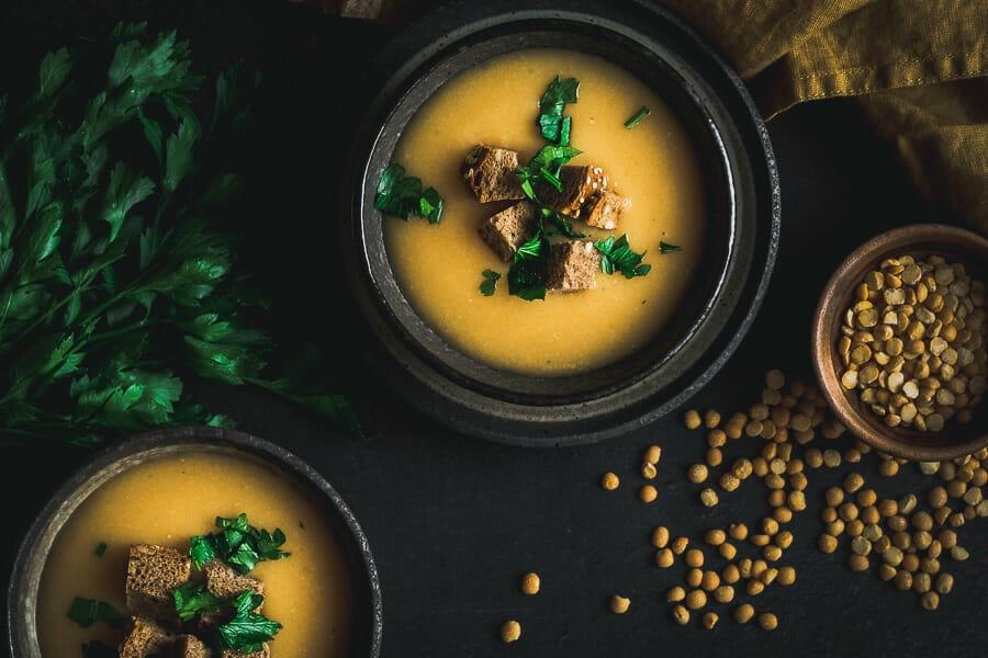 Kremová hrachová polievka