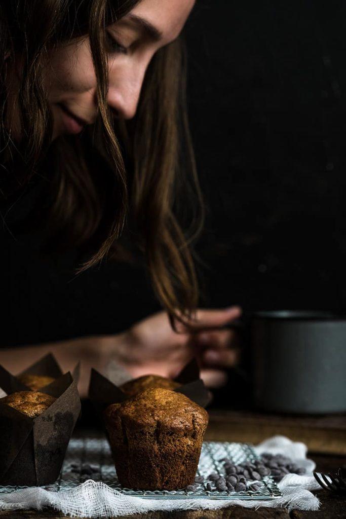 Banánové muffiny s čokoládou