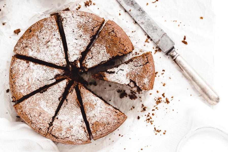 Čokoládový koláč s olivovým olejom