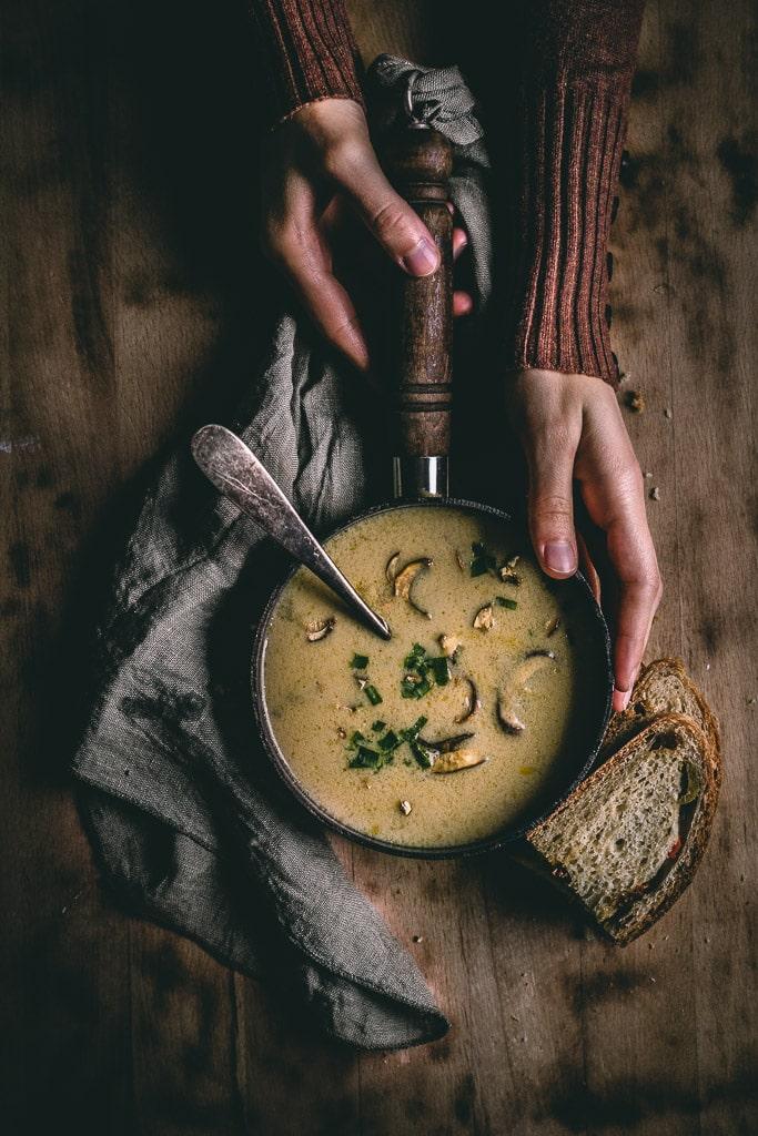 Hríbová polievka na kyslo
