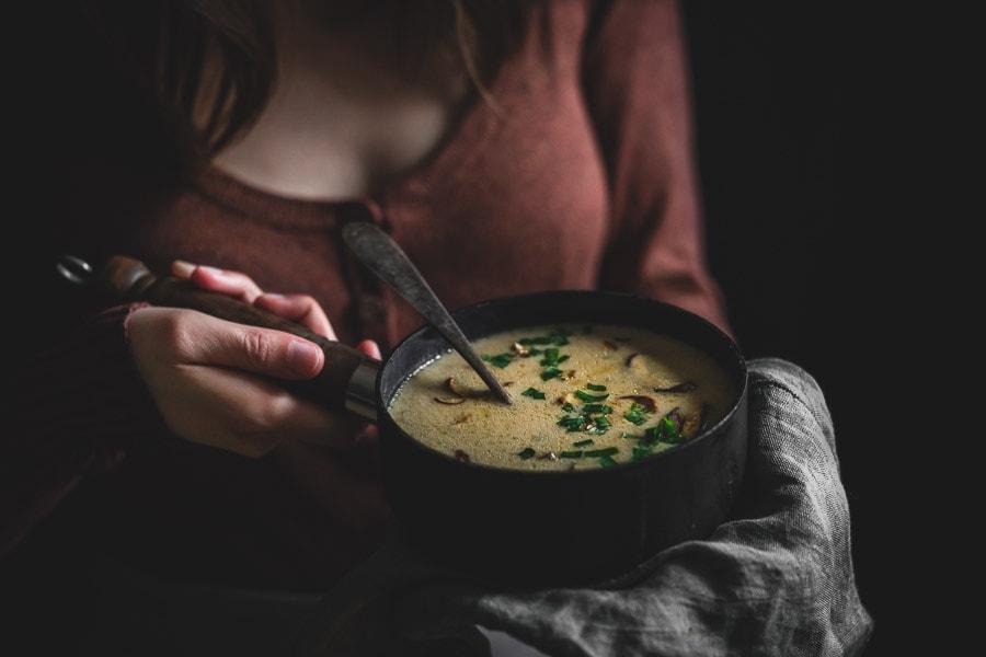 Jednoduchá hríbová polievka na kyslo